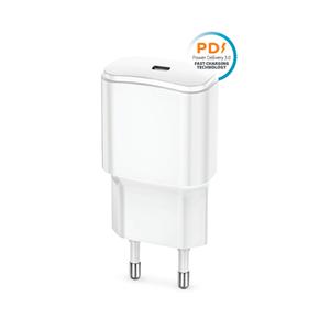 Forever TC-01 USB-C PD 3A Pikalaturi (20W), valkoinen
