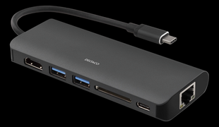USB-C Hubi - HDMI, USB-A ja USB-C liitännöillä, 1080p, USB 3.1 Gen 1, valkoinen