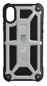 UAG Urban Armor Gear Monarch suojakotelo iPhone X / Xs - Platina / musta