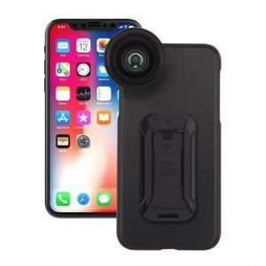 Armor-X UXA Suojakotelo + 2in1 makro / laajakulmaobjektiivi iPhone X, musta