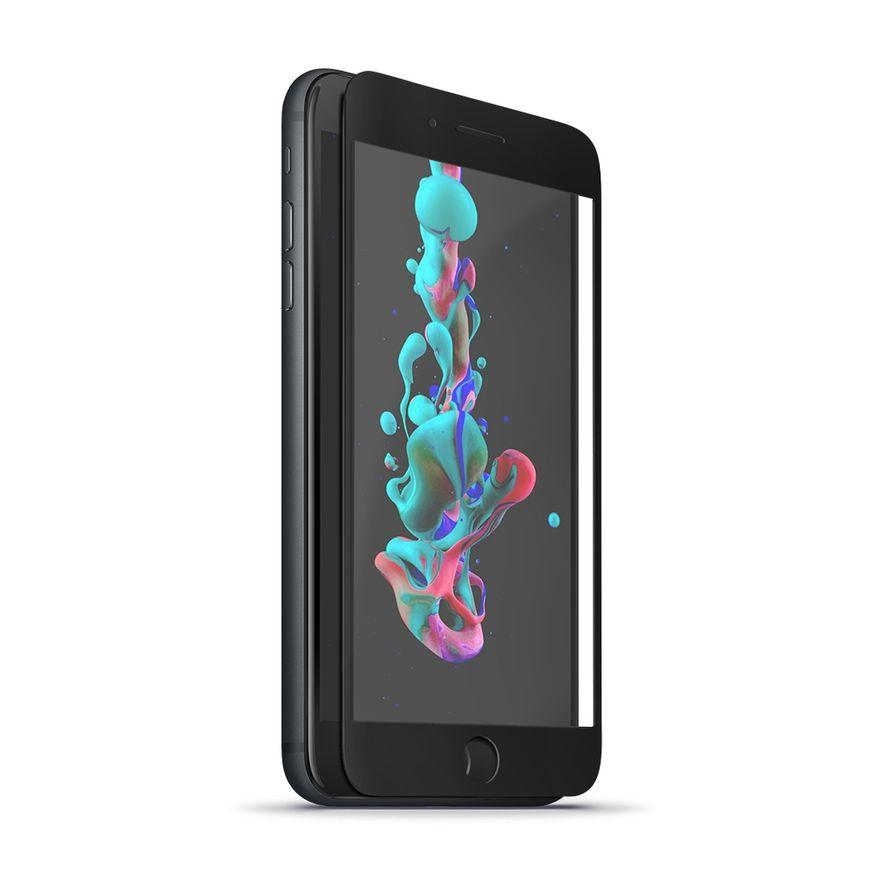 Forever 5D Iskunkestävä Panssarilasi iPhone 7 Plus / 8 Plus, musta