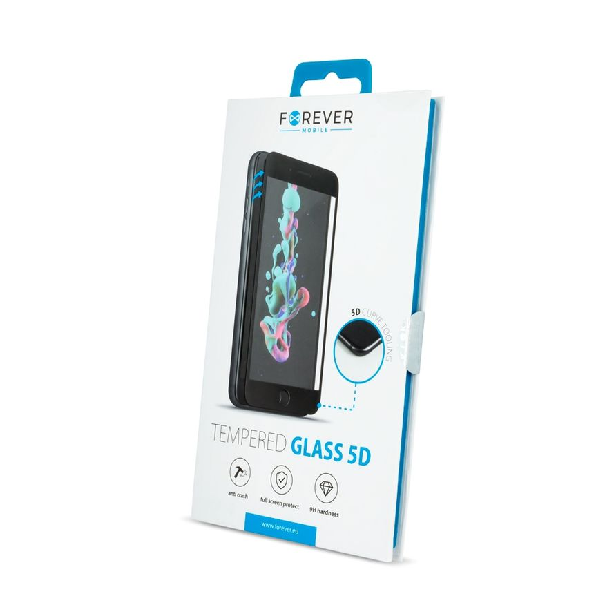 Forever 5D Iskunkestävä Panssarilasi Samsung Galaxy S21 Ultra - Musta
