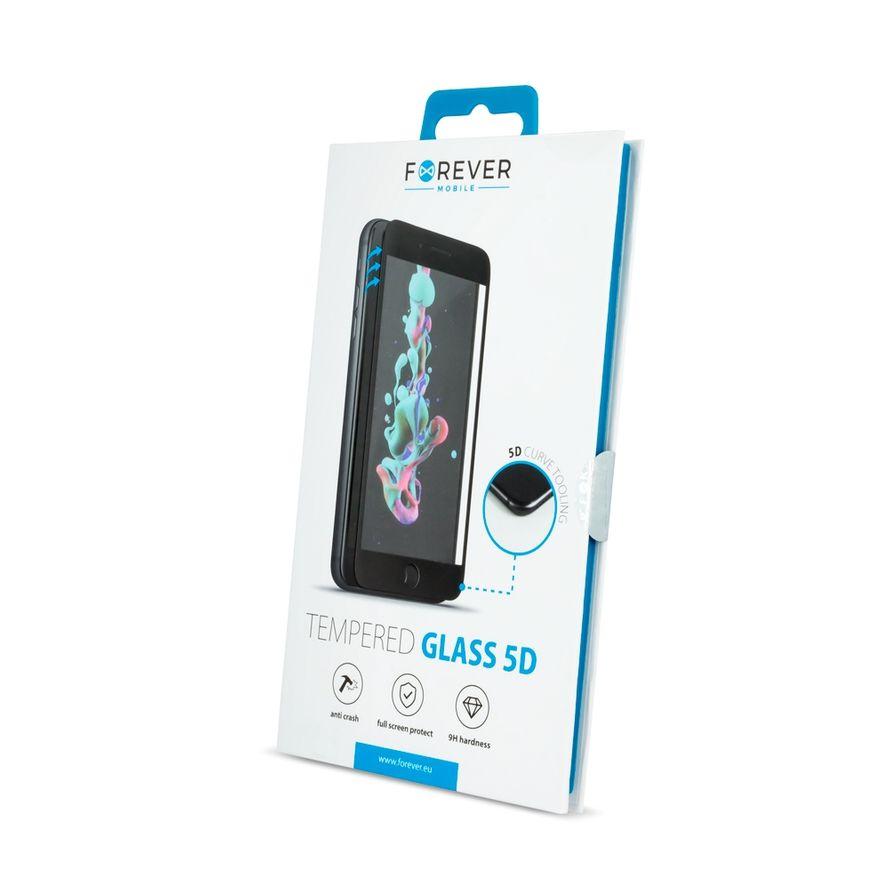 Forever 5D Iskunkestävä Panssarilasi iPhone 7 / 8 / SE 2020, valkoinen