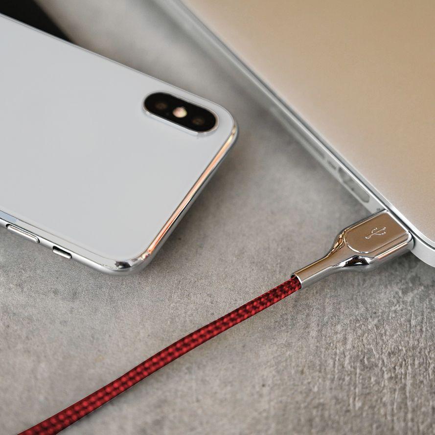 Forever Core Ultranopea USB Type-C, 5A lataus- ja synkronointikaapeli 1m, punainen