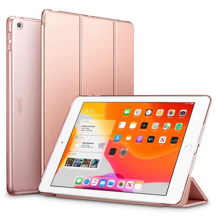 """ESR Yippee Trifold Series Suojakotelo Apple iPad 10.2"""" 2019 / 2020 ruusukulta"""