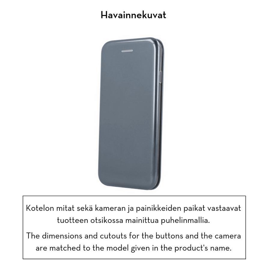Forever lompakkomallinen Armor suojakotelo iPhone Xs Max - harmaa