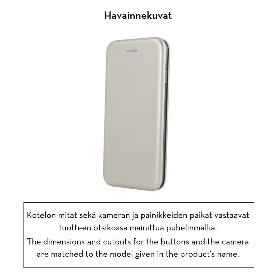 Forever lompakkomallinen Armor suojakotelo iPhone XR - kullanvärinen