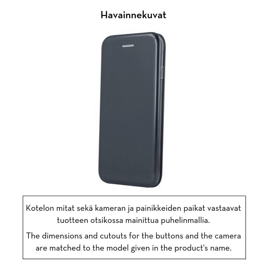 Forever lompakkomallinen Armor suojakotelo iPhone X / iPhone Xs - musta