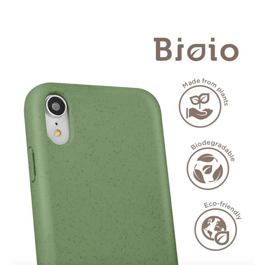 Forever Bioio 100% biohajoava suojakotelo iPhone Xs Max - vihreä
