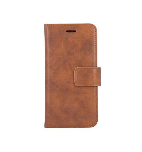 Forever Classic lompakkomallinen suojakotelo iPhone Xs Max aitoa nahkaa - ruskea