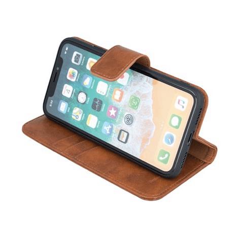 Forever Classic lompakkomallinen suojakotelo iPhone 11 Pro Max aitoa nahkaa - ruskea