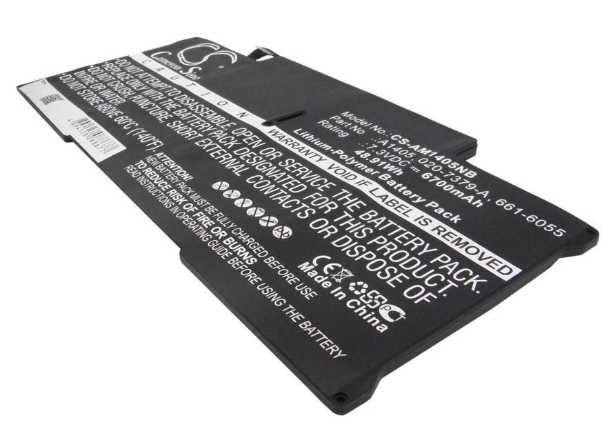 Apple Macbook Air 13-tuumaa 2011 2012 A1405 akku 6700 mAh musta