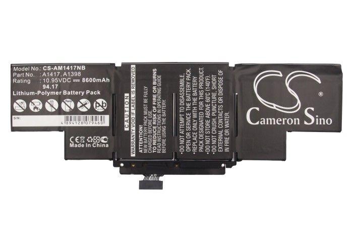 Apple Macbook Pro Core i7 15 tuumaa Retina 2012 2013 akku 8600 mAh musta