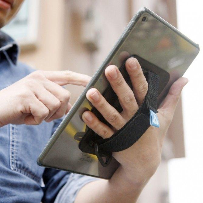 Armor-X CX-A37S Suojakotelo + Käsihihna iPad Air 2, läpinäkyvä/musta