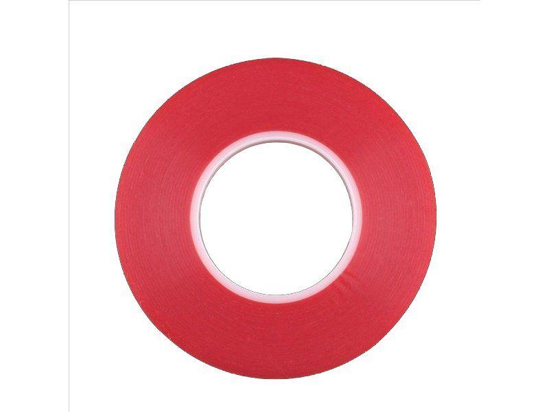 Kaksipuolinen vahva teippi mm. näyttöjen kiinnittämiseen (8mm x 25m)
