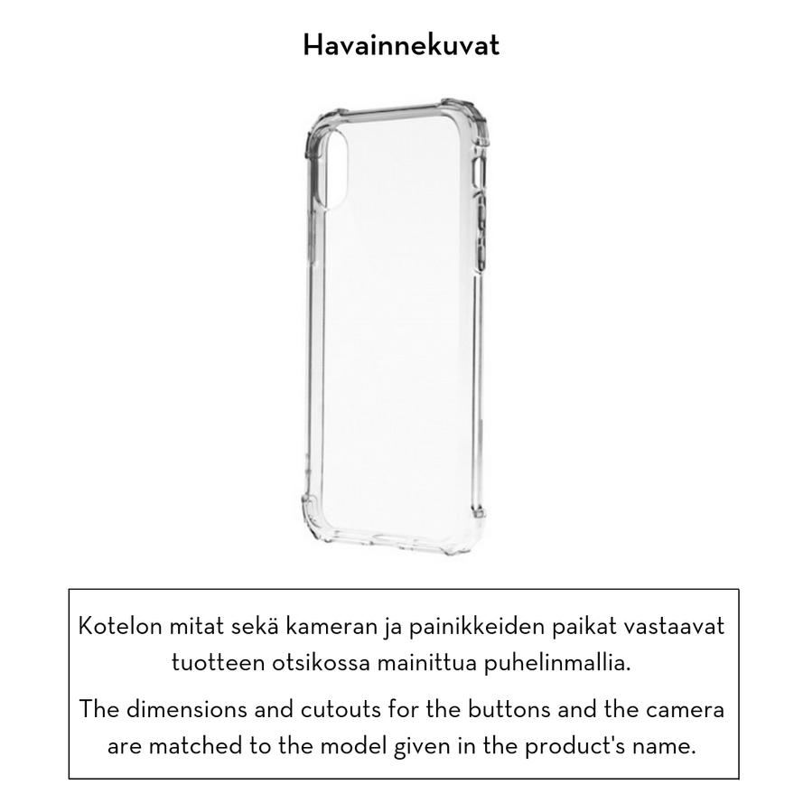 Forever Crystal suojakotelo iPhone XR - läpinäkyvä