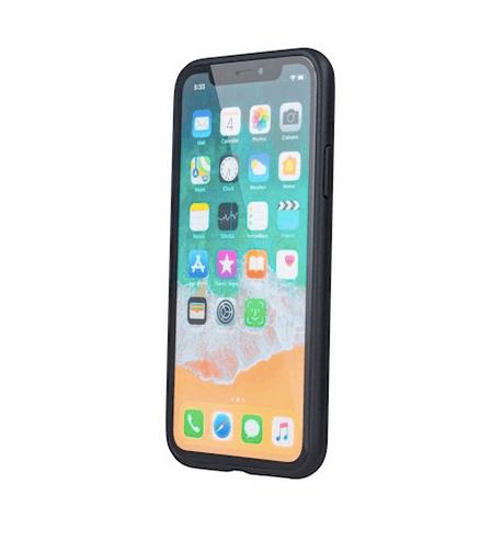 Forever Prime suojakotelo iPhone XS Max aitoa nahkaa - musta