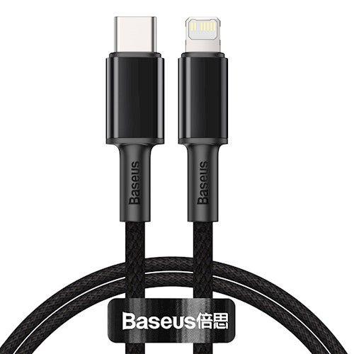 Baseus High Density USB-C - Lightning 20W PD Latauskaapeli 1m - Musta