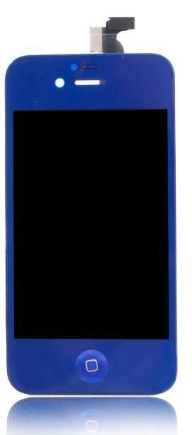 iPhone 4 LCD-näyttö + kosketuspaneeli - Tummansininen